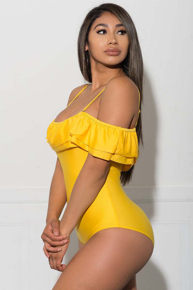 Kelani One Piece Swimsuit  Yellow