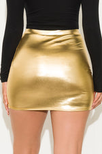 Warming Up Mini Skirt Gold