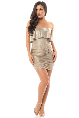Trinity Gold Dress - Fashion Effect Store  - 1