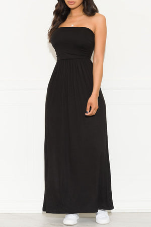 Here To Stay Maxi Dress  Black