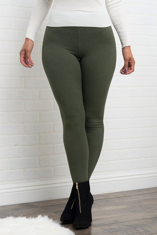 Jane Leggings - Olive