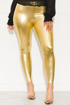 Tell Me More Leggings Gold