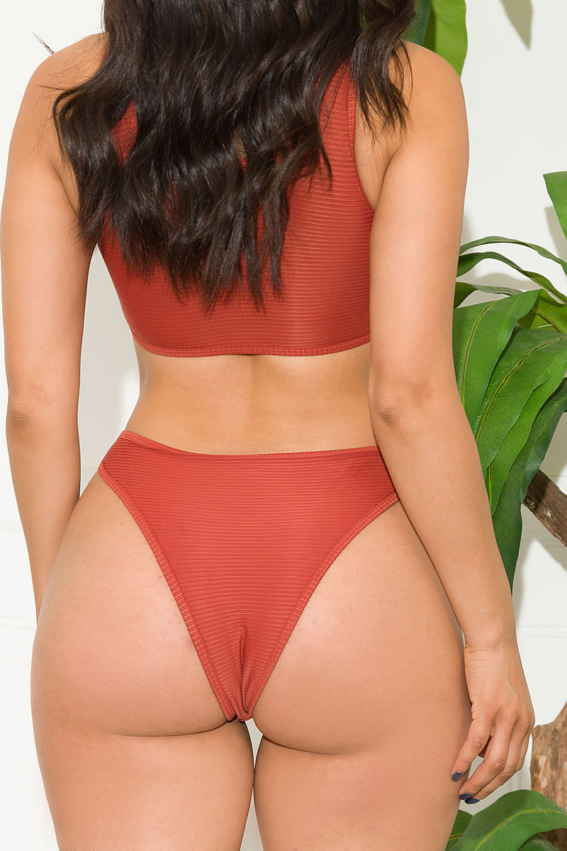 St Andrews Two Piece Swimsuit Rust