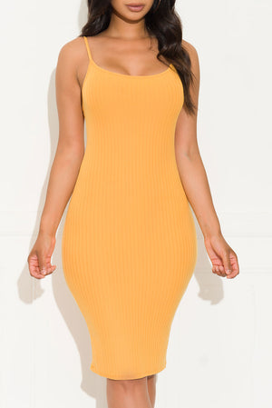 Keep It To The Side Dress Yellow