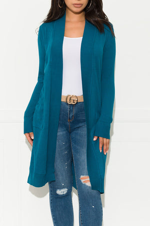 No One Better Cardigan Sweater Corsair Teal