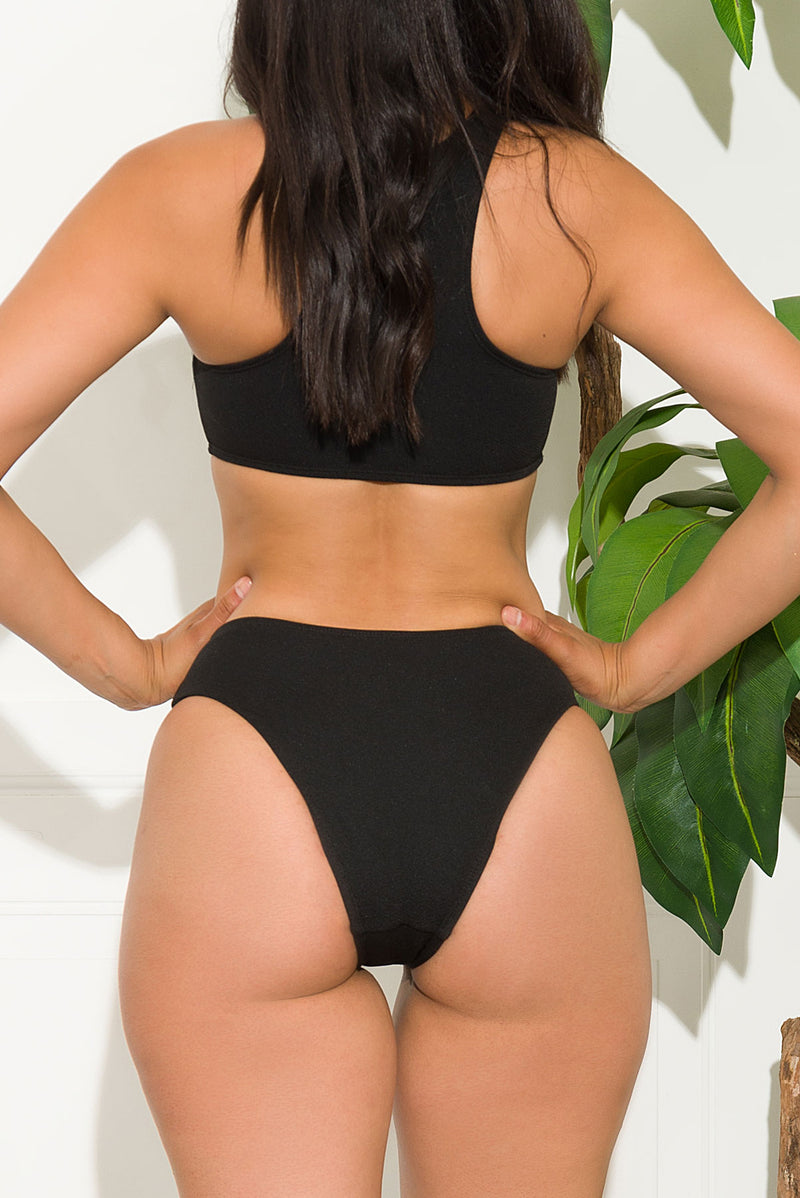 Sunny Bay Two Piece Swimsuit Black