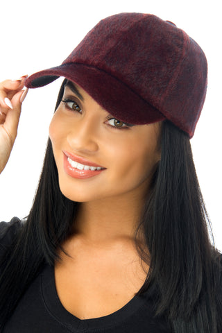 Mindy Burgundy Cap - Fashion Effect Store  - 1