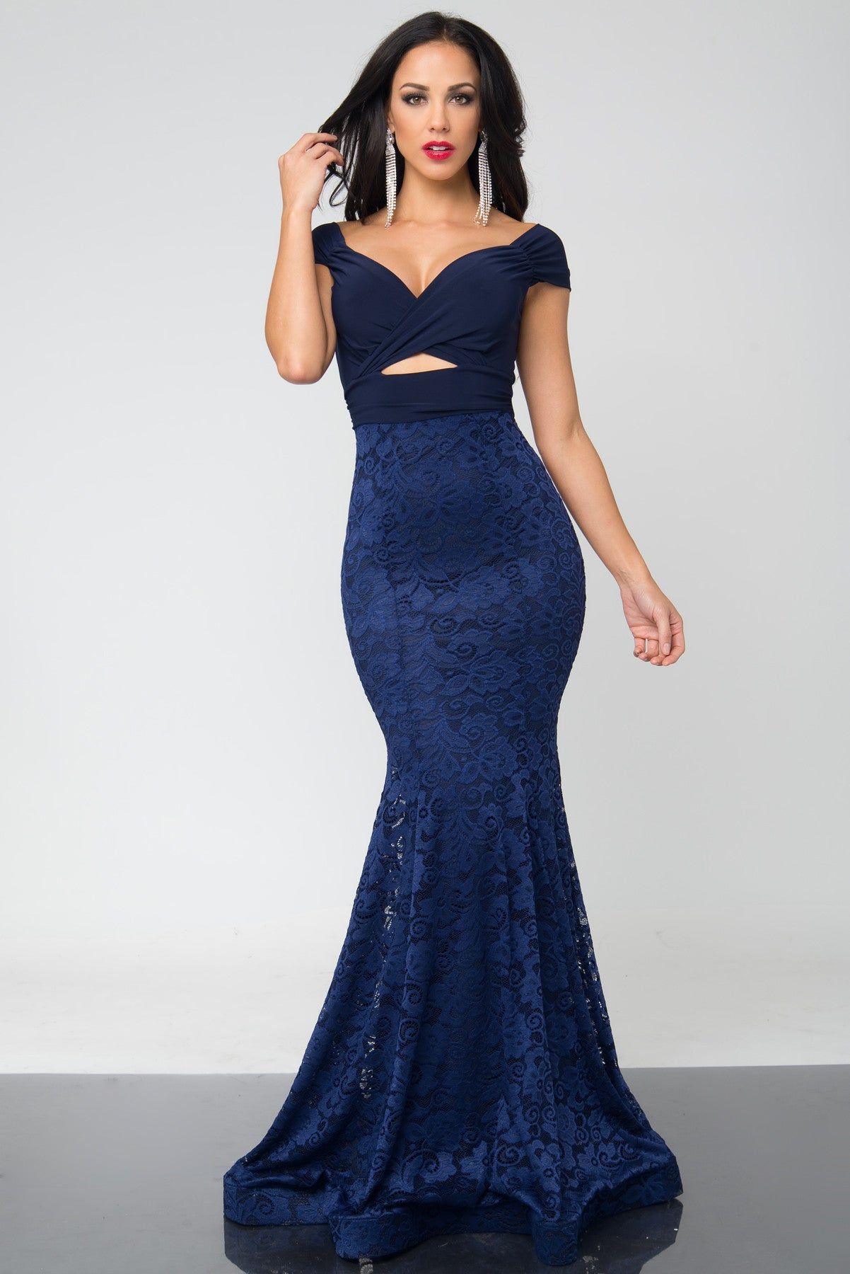 Valentina Navy Blue Dress - Fashion Effect Store  - 1
