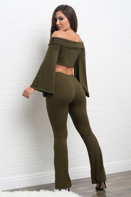 Aubrianna two piece set - Olive