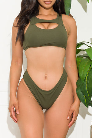 Sunny Bay Two Piece Swimsuit Olive