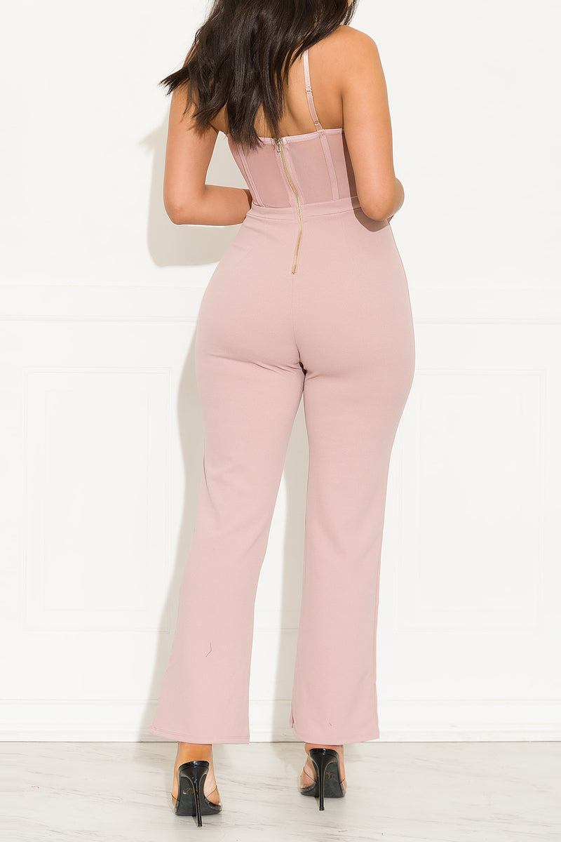 Keep It Between Us Jumpsuit Mauve