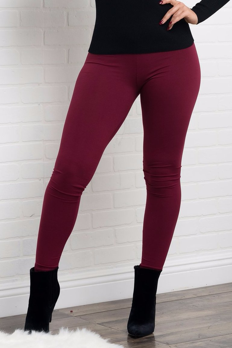 Jane Leggings - Burgundy
