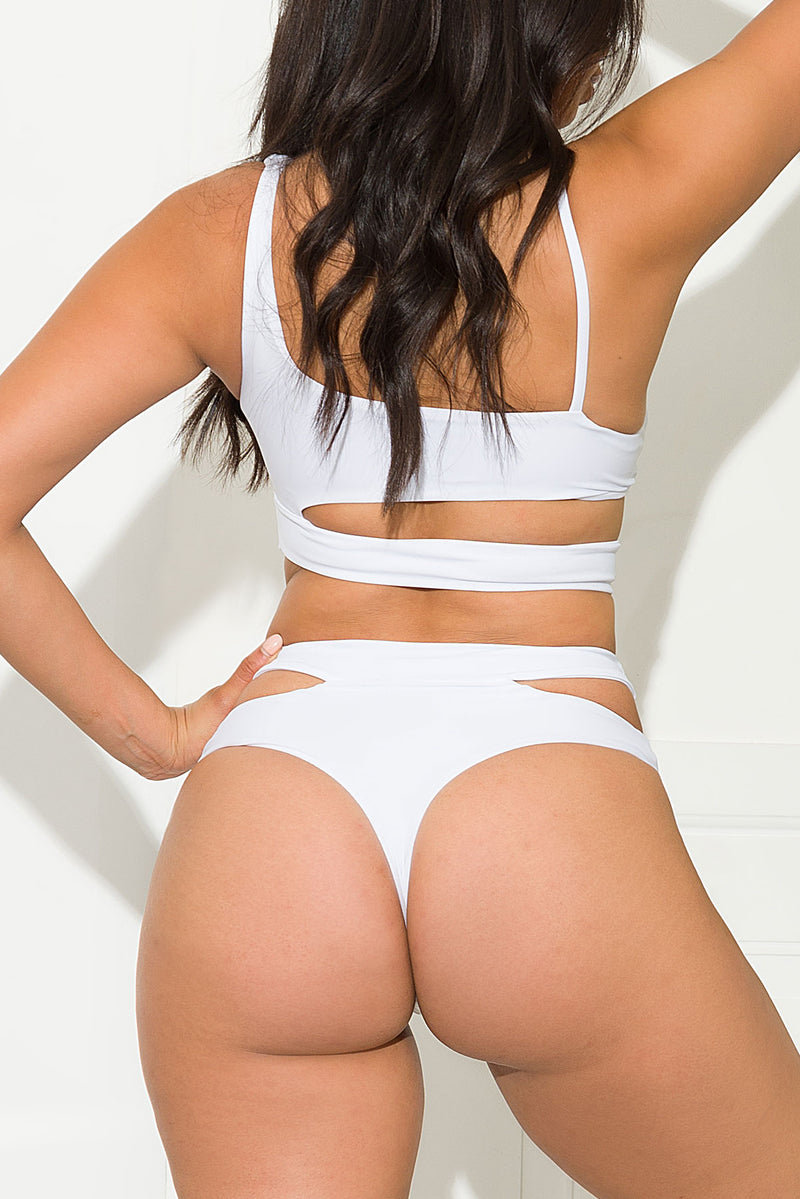 Coral Bay Two Piece Piece Swimsuit White