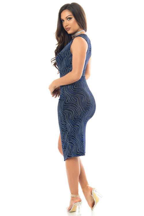 Keiry Navy Blue Dress - Fashion Effect Store  - 2