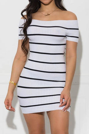 Monroe Off Shoulder Dress - White