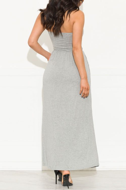 Here To Stay Maxi Dress Heather Grey