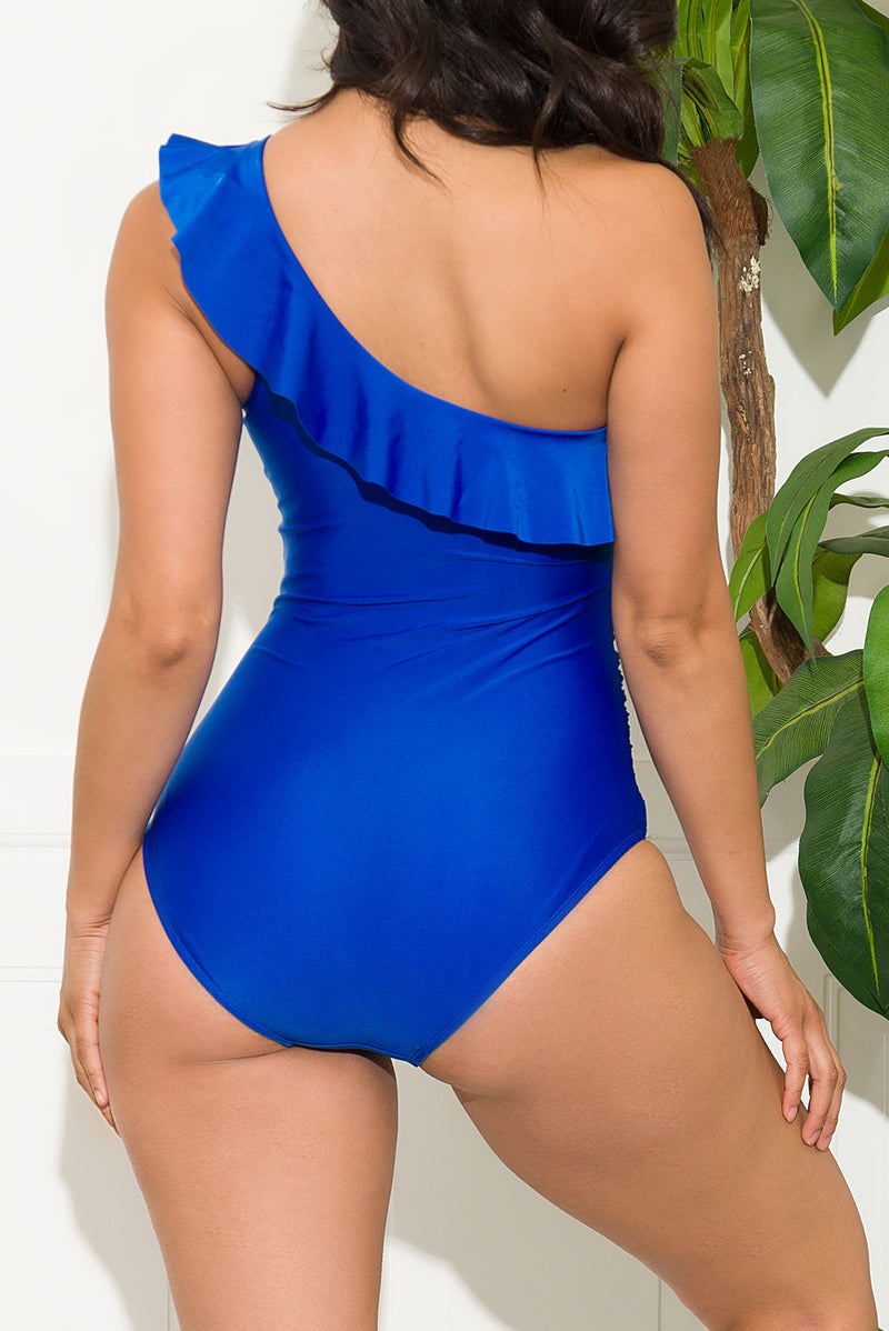 Grand Anse Beach One Piece Swimsuit Royal Blue