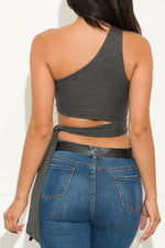 Nessi Top Charcoal Gray