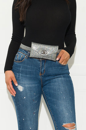 Something Pretty Fanny Pack Silver