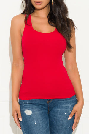 Comfy And Basic Top Red