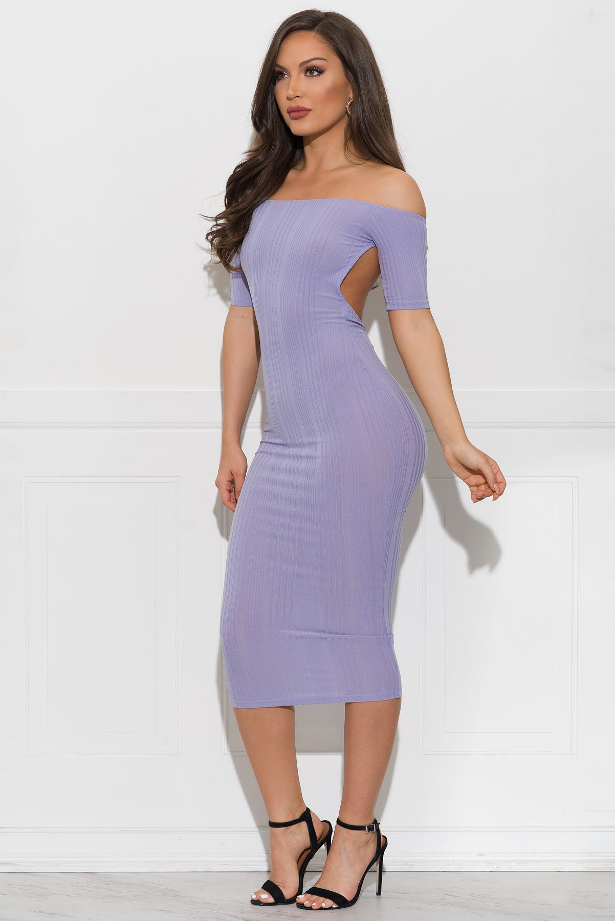 Georgia Midi Dress - Lavender