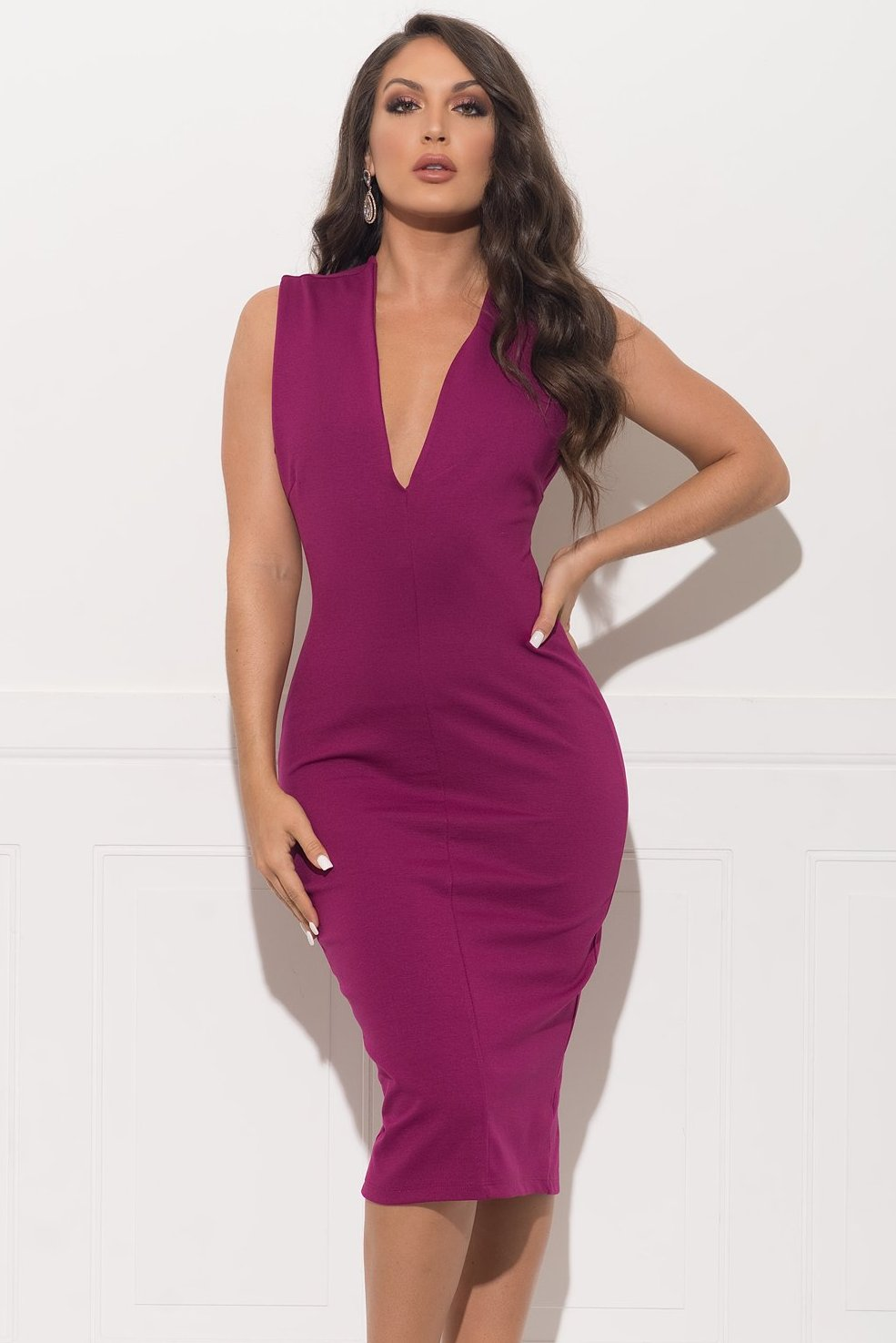 Love At First Sight Dress - Plum
