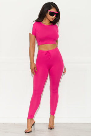 Cross the Line  Set Hot Pink