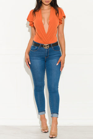 In The View Bodysuit  Orange