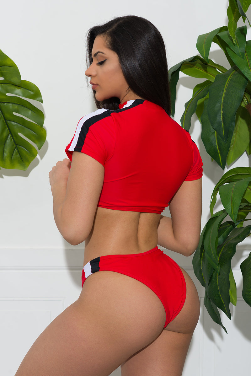 Miami Beach two piece swimsuit  Red