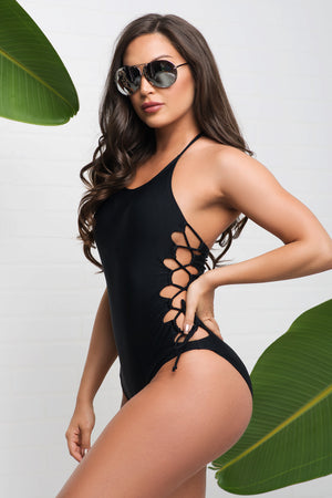Gleaming Bay One Piece Swimsuit Black