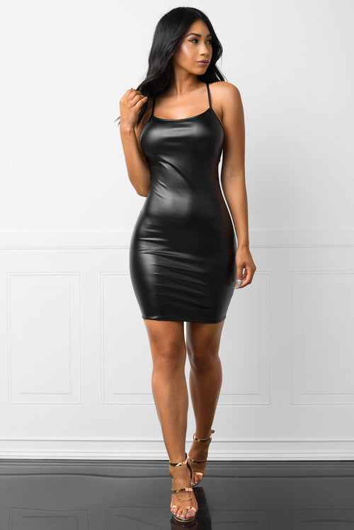 Rebecca Faux Leather Dress