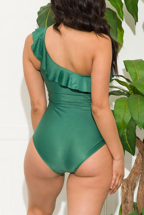 Grand Anse Beach One Piece Swimsuit Green