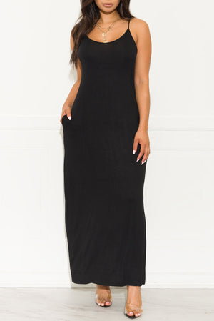 Settle Down Maxi Dress Black