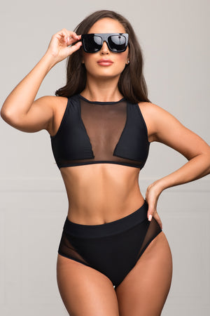 Nosara Beach Two Piece Swimsuit  Black