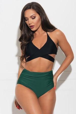 High waisted classic bottom - Green