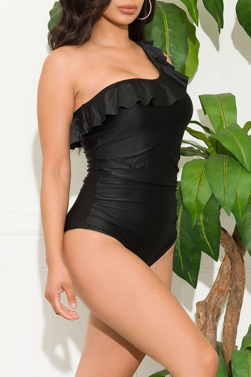 Grand Anse Beach One Piece Swimsuit Black
