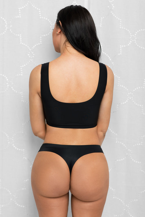 No-Show Seamless Thong Black