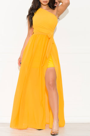 High Hopes Maxi Gown Dress Yellow