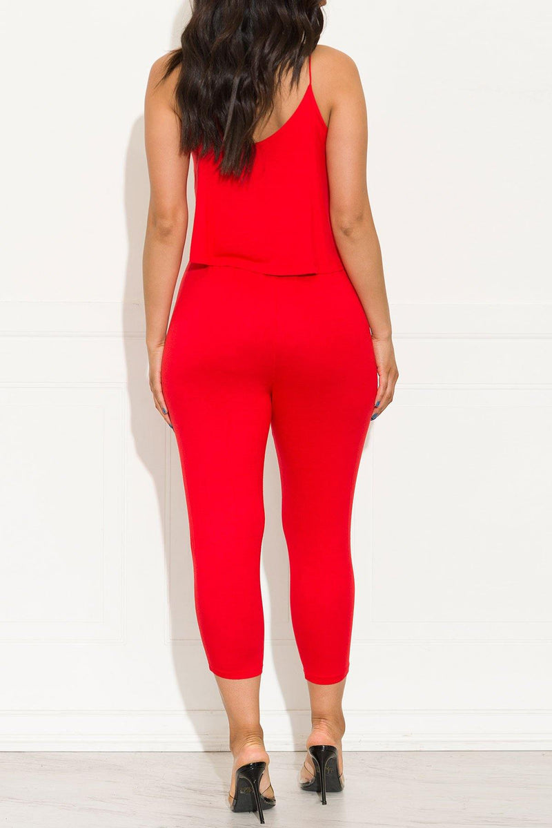 A Little Extra Jumpsuit Red