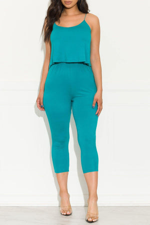 A Little Extra Jumpsuit Turquoise