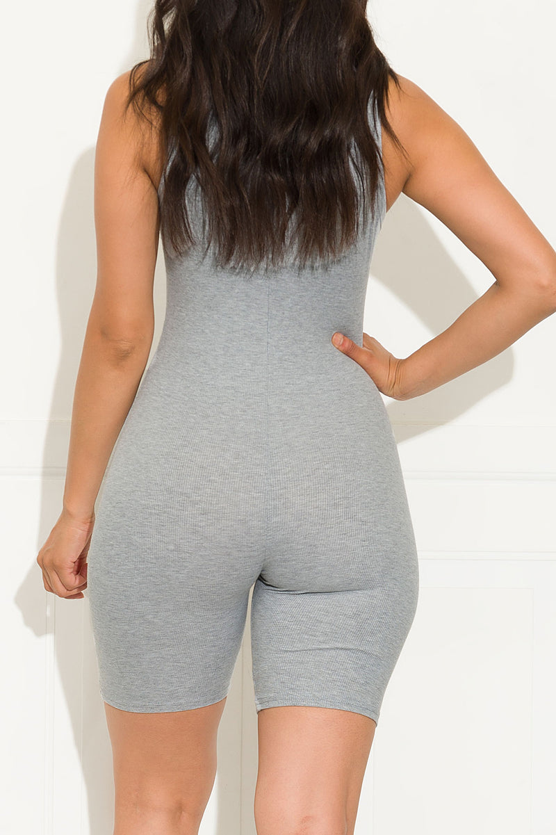 Keep it simple Romper Grey