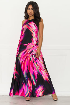 Isabelle Maxi Dress - Pink