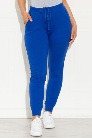 Set You On Track Jogger Royal Blue