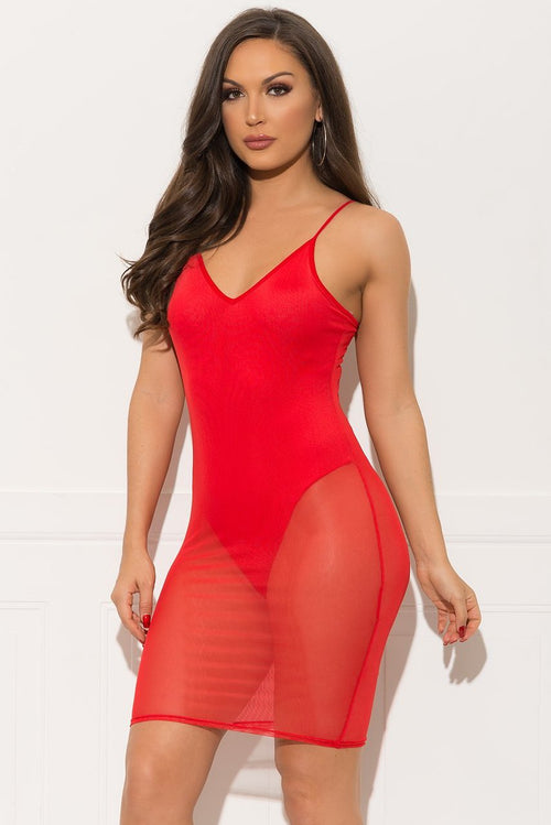 Amber Mini Dress - Red
