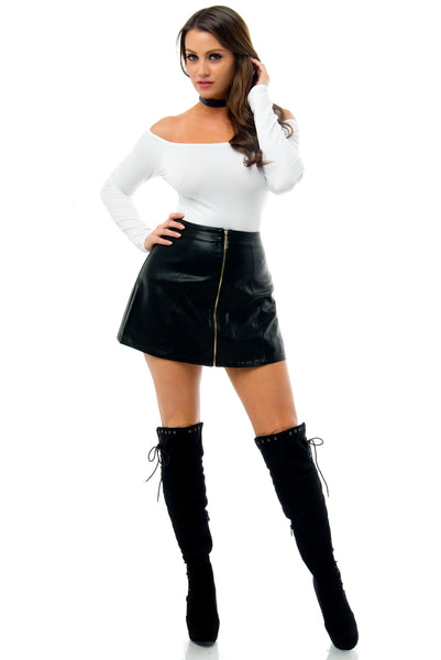 Mimi Faux Leather Mini Skirt - Fashion Effect Store  - 1