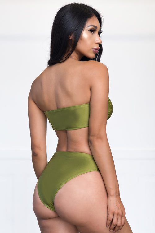 Balos Beach Two Piece Swimsuit - Green