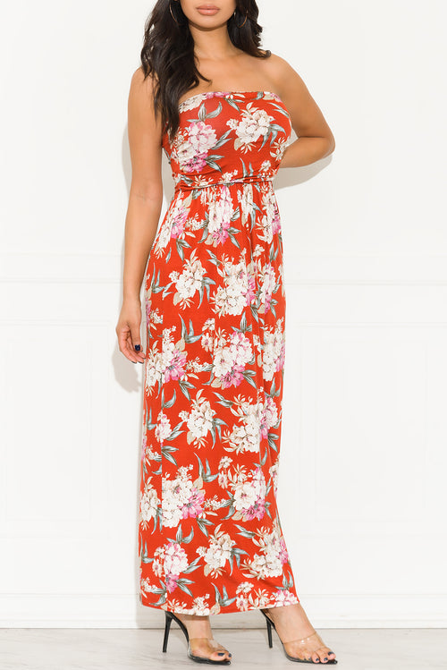 Spring Is Coming Maxi Dress Rust