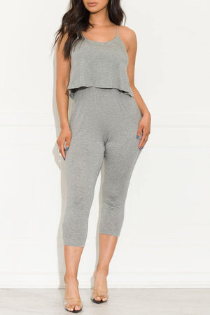 A Little Extra Jumpsuit Grey