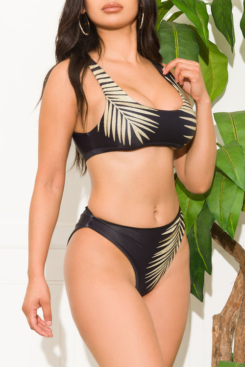 Miramar Beach Two Piece Swimsuit Black