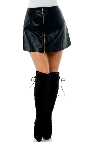 Mimi Faux Leather Mini Skirt - Fashion Effect Store  - 3